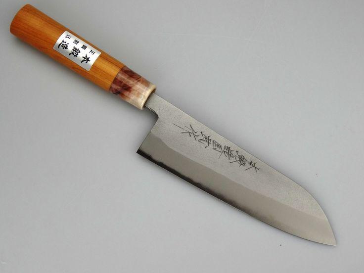 Miki M121 Santoku Satijn (universeel mes), 170 mm | Miki Hamono | Japanse keukenmessen