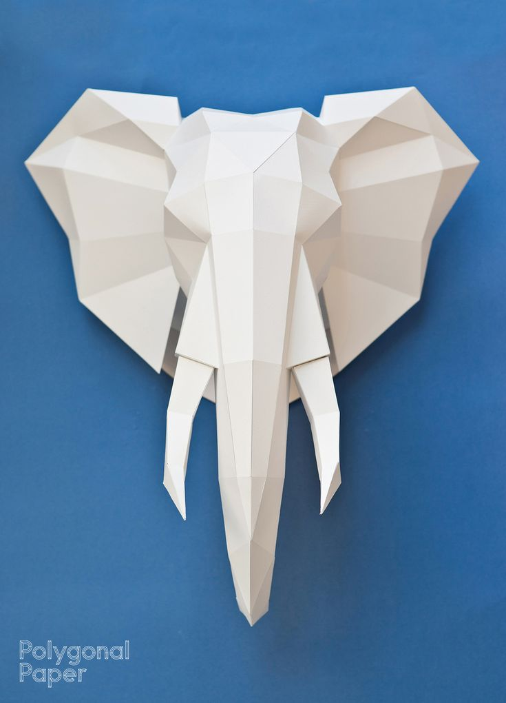 Files for making an elephant head out of paper. template for printing on A4 paper size (210 × 297 mm); template for printing on A3 (420 × 297 mm); template for printing on A1 (594 × 841 mm). . Choose one of these formats. On every format the same size of the ready sculpture, about 60 cm in height. Included in the file are detailed English, French, Spanish and Russian instructions, where you will find useful tips on the choice of materials, as well as step by step instructions for gluing the…