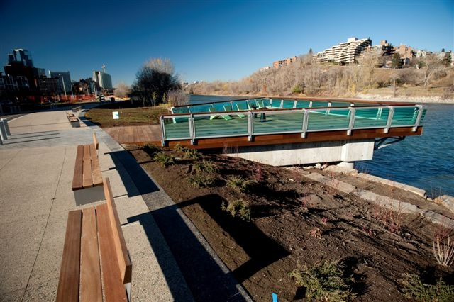 Kayu Canada Inc. supplied the exotic hardwood products used at the Calgary RiverWalk. Dark Red Meranti was the obvious choice for a project like this. Dark Red Meranti is unlike anything you have seen before.
