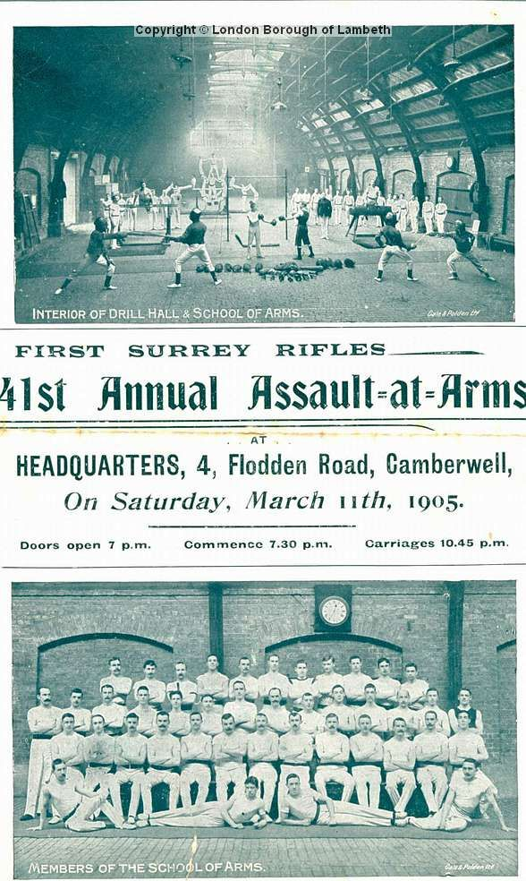First Surrey Rifles: 41st Annual Assault-at-arms Programme