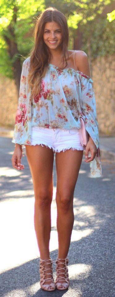 Travel Fashion & Style Features - A Very Sexy Top & Short Shorts for Summer ... See more @gr8traveltips
