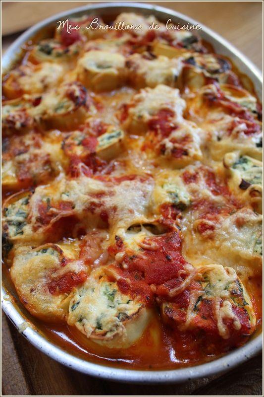 Cannellonis épinards et ricotta de Jamie oliver