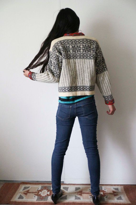Vintage Nordstrikk Fair Isle sweater by monacross on Etsy