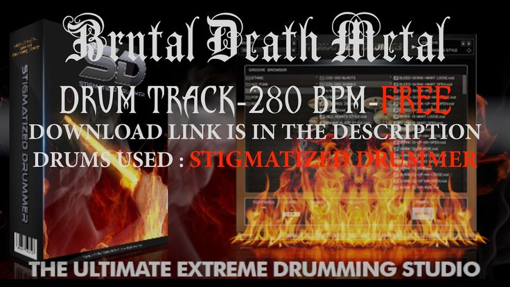 Brutal Death Metal Drum Track/280 BPM/Stigmatized Drummer