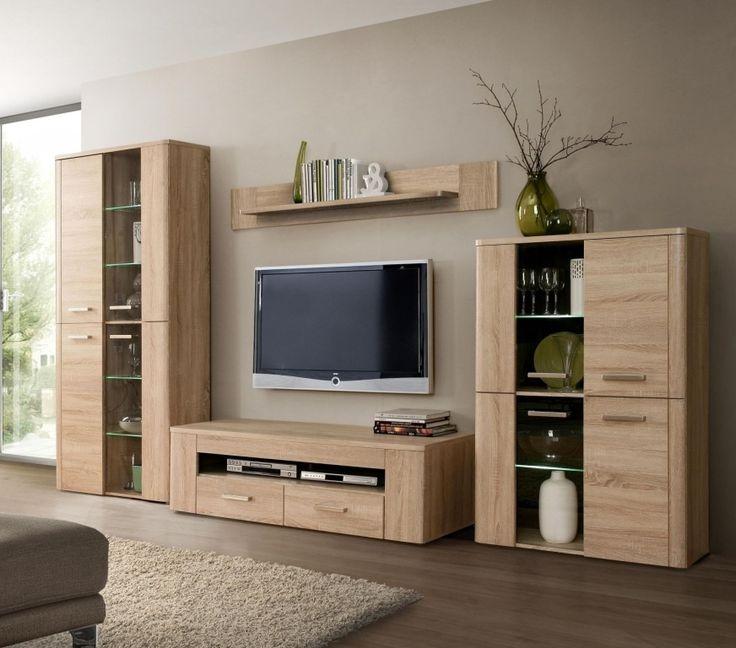 wohnwand belmondo tv units wohnzimmer wohnen wohnwand eiche. Black Bedroom Furniture Sets. Home Design Ideas