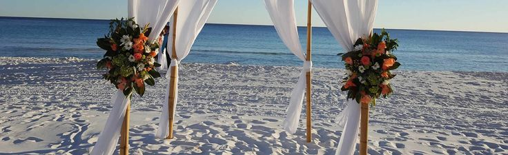 Have your wedding on the most beautiful private beach in Destin, Florida at Seascape Resort. All-Inclusive Destin wedding packages.