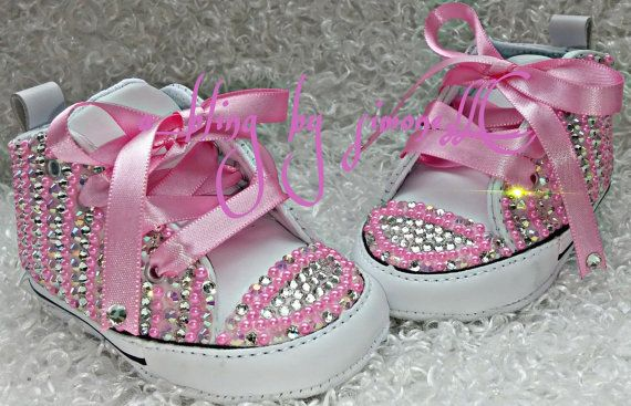 Custom bling infant converse