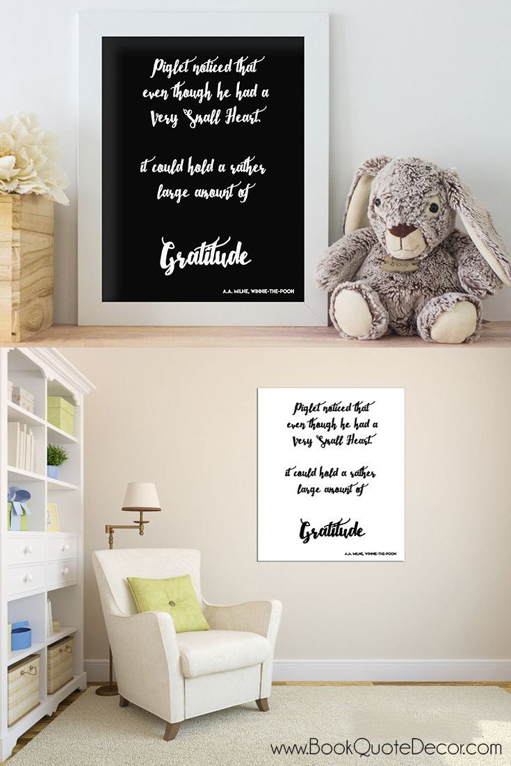 Winnie The Pooh Typography Print Poster Unframed Quote Home Family Nursery