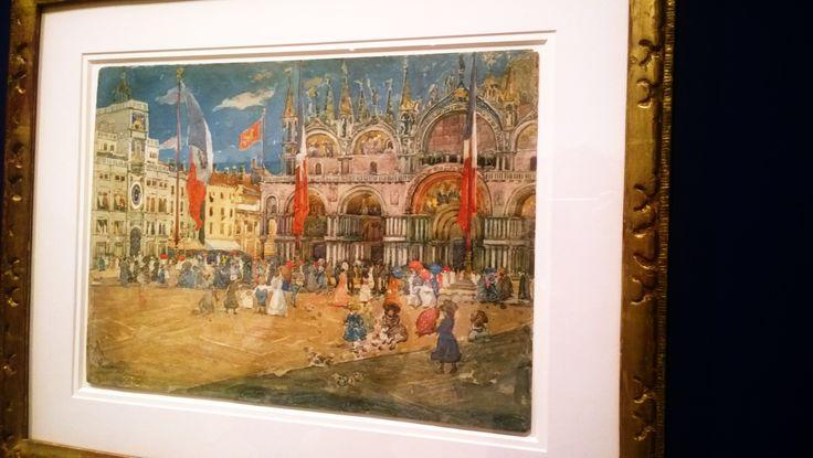 Piazza San Marco (1898) - Maurice Brazil Prendergast #disegno #acquerello #correr #lapoesiadellaluce #piazzasanmarco #prendergast #impressionismo #pleinair
