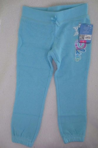 Girl-Disney-Frozen-Elsa-Jogging-Pants-Size-5-Blue-Glitter-Jumping-Beans-New-Cute
