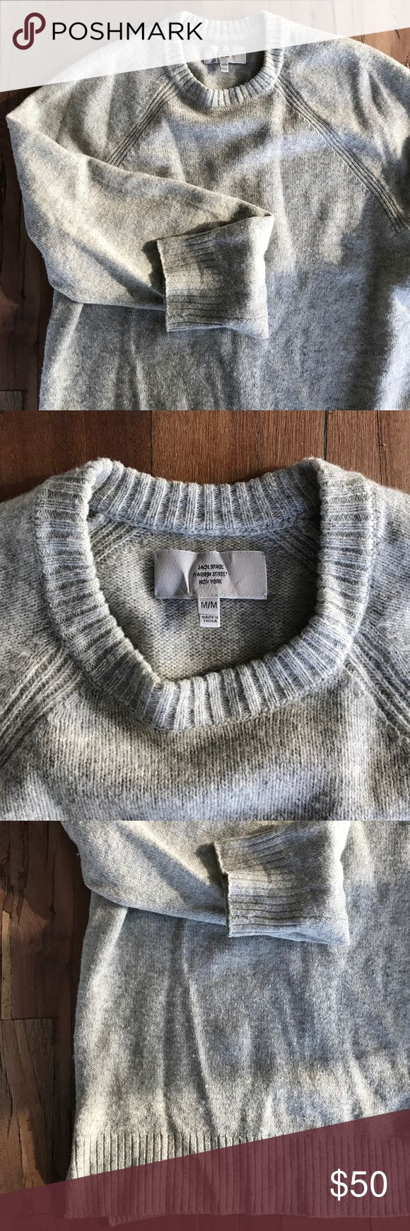 Jack Spade wool/cotton lightweight sweater. Lightweight/barely worn Jack Spade Sweaters Crewneck