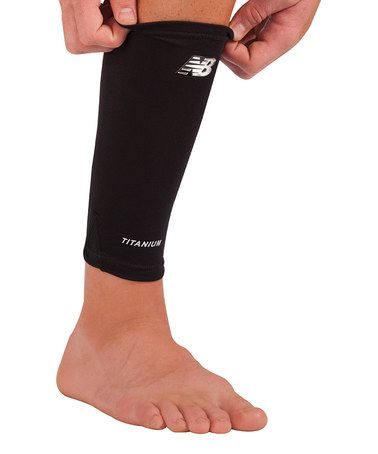 Look what I found on #zulily! Black Calf & Shin Compression Sleeve by New Balance #zulilyfinds