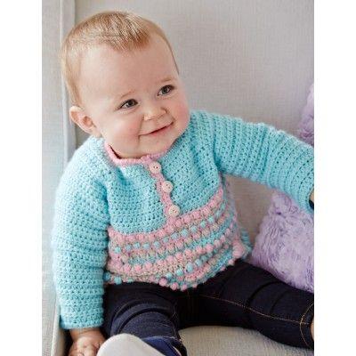 Free Easy Baby's Sweater Crochet Pattern