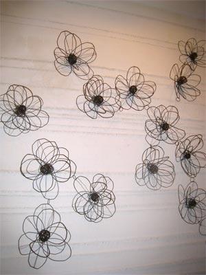 fleurs en fil de fer