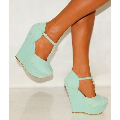 -- This site is full of really good finds Mint Green Wedges (USD 30)