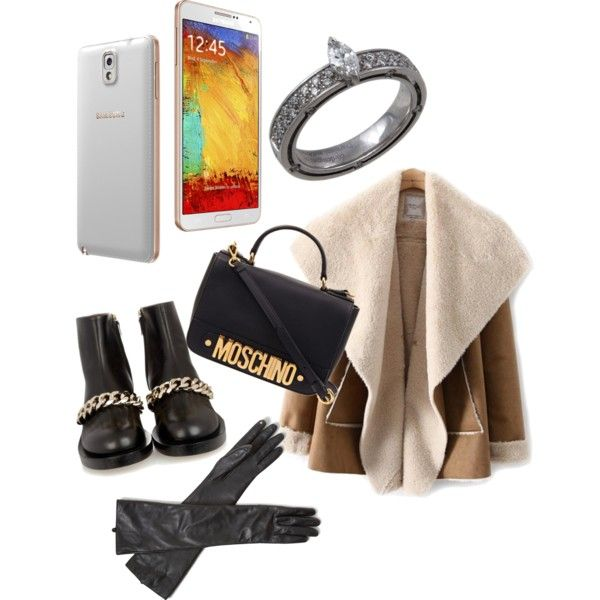 A fashion look from December 2014 featuring Moschino shoulder bags, Damiani rings and C. Wonder gloves. Browse and shop related looks.