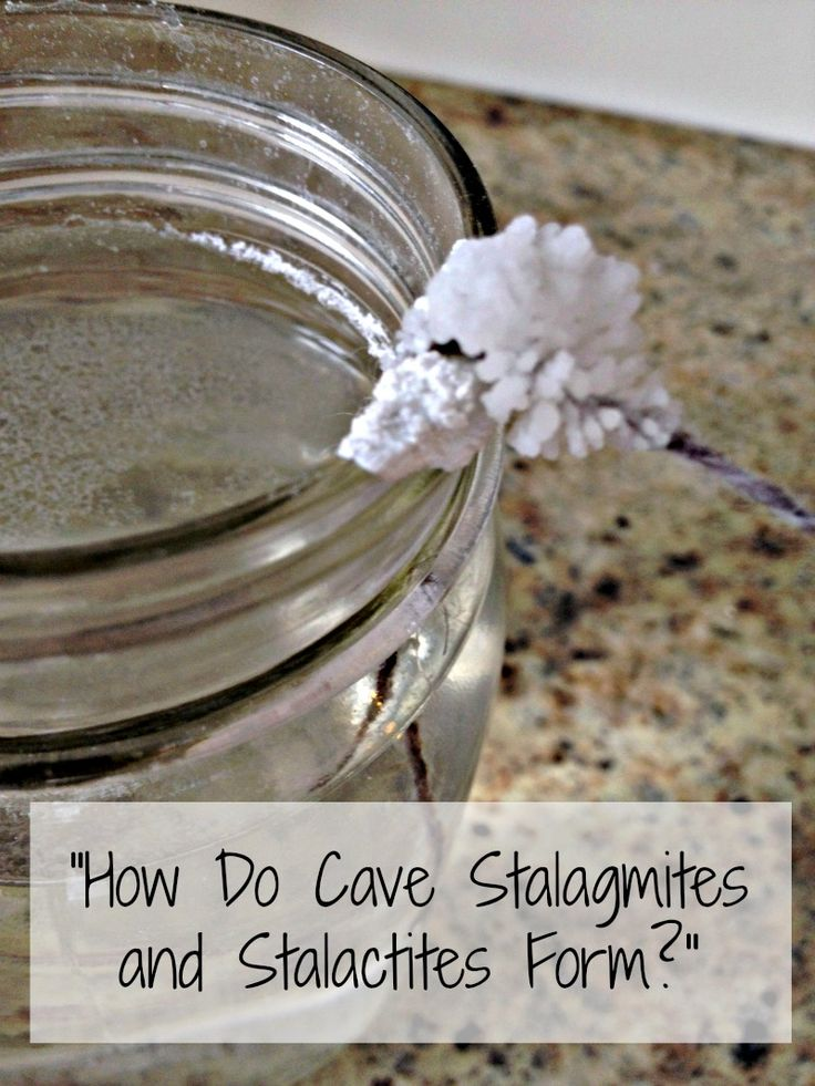 stalactites and stalagmites science experiment