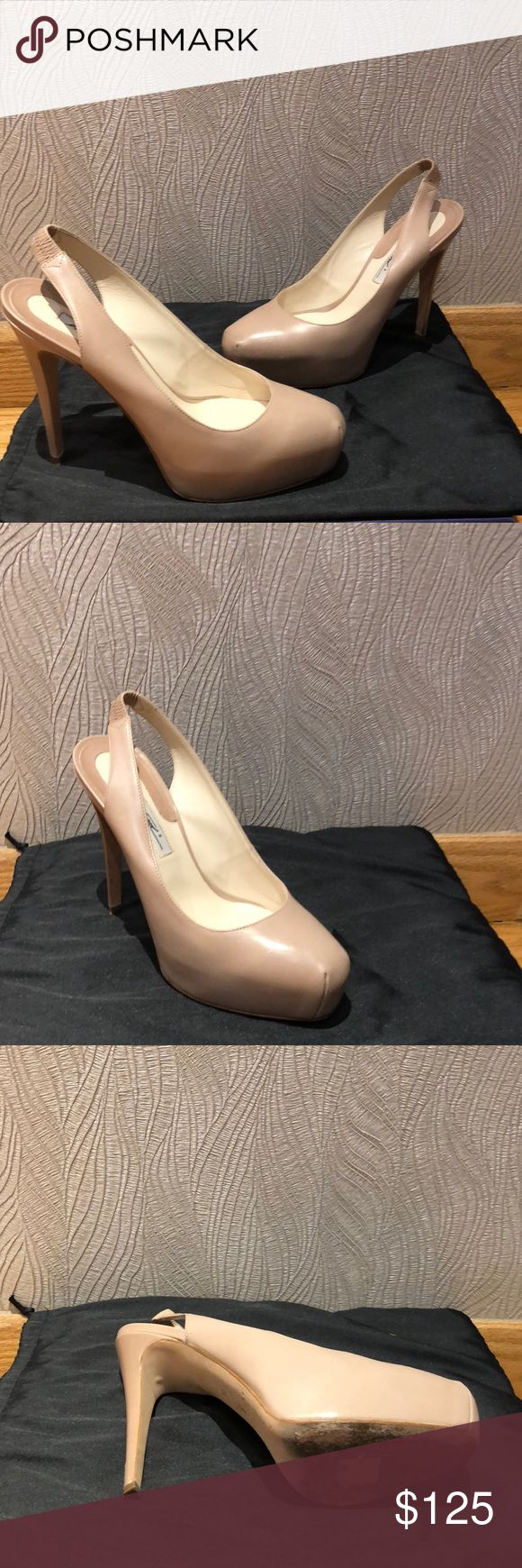 Brian Atwood pumps Beautiful cream color authentic Brian Atwood pumps with 1 1/2 plateau in front and 5 inch heel Brian Atwood Shoes Heels #brianatwoodheelsbeautiful