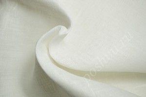 (Export) Легкая белая льняная ткань Вуаль