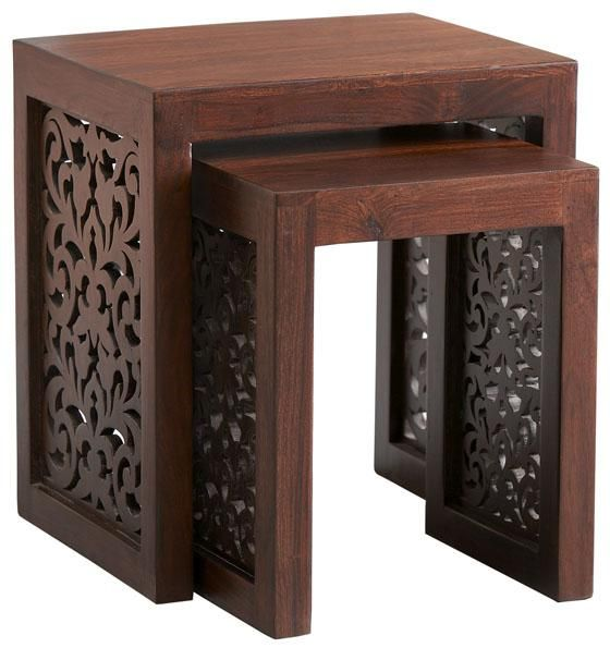 home decorators collection maharaja nesting tables, $199.00, perfect for nightstand in the Moroccan bedroom. :)
