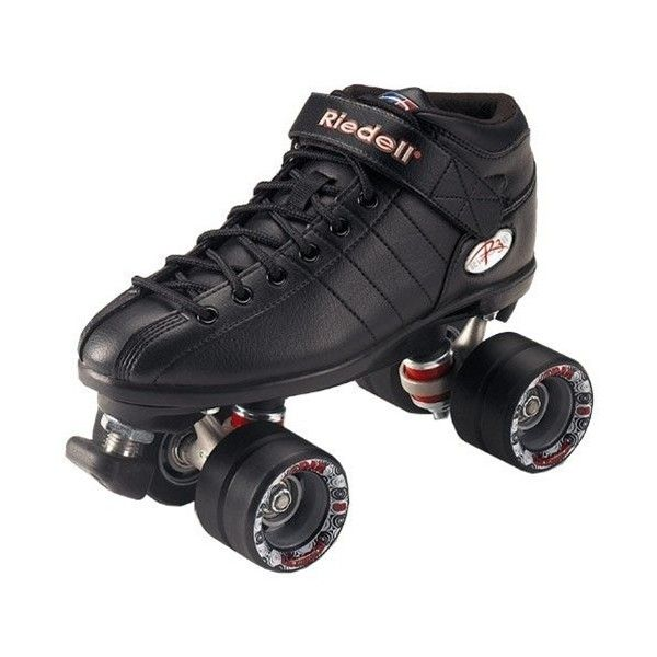 R3 Quad Skates - Black::Quad Speed Skates::Skates::Via Roller... ❤ liked on Polyvore featuring shoes and skates