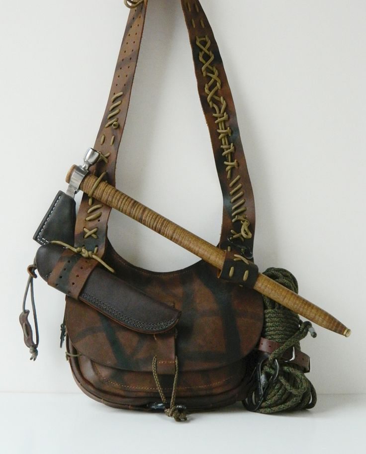 Possibles Bushcraft bag by Gillie Leather all Gillied Up with gear. #possibles #leather #hunting
