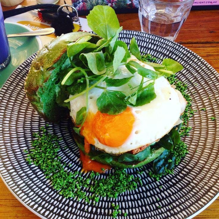 The Glass Den (Coburg): Matcha Burger [8.5/10]