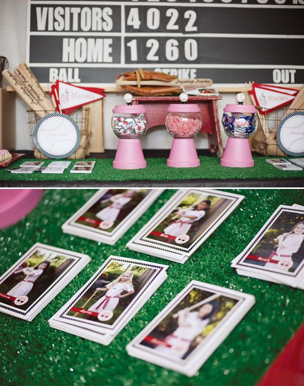 Girls Vintage Baseball Party in pink! So cute!! I love a league of their own