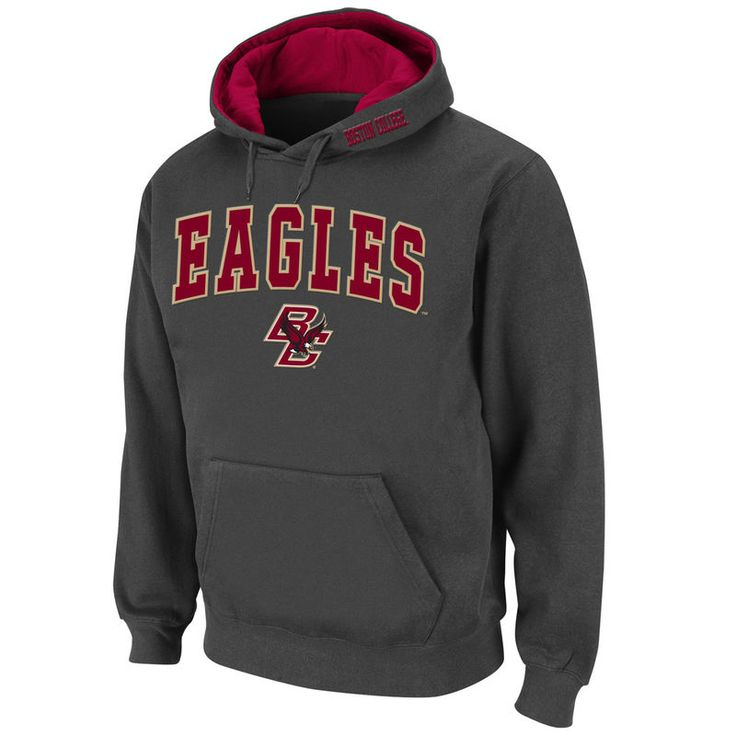 Boston College Eagles Stadium Athletic Arch & Logo Pullover Hoodie - Charcoal