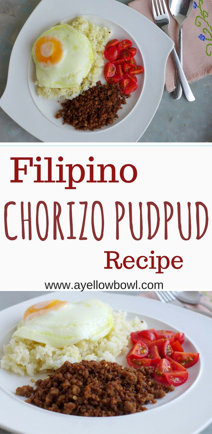 This Filipino chorizo pudpud recipe is a classic Negrense breakfast dish. Marinated ground pork fried until crisp. Best served with fried rice, an egg, and some sliced tomatoes.