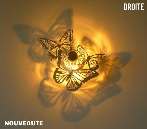 Applique luminaire design trio papillons 5d effet - Appliques murales orientables ...