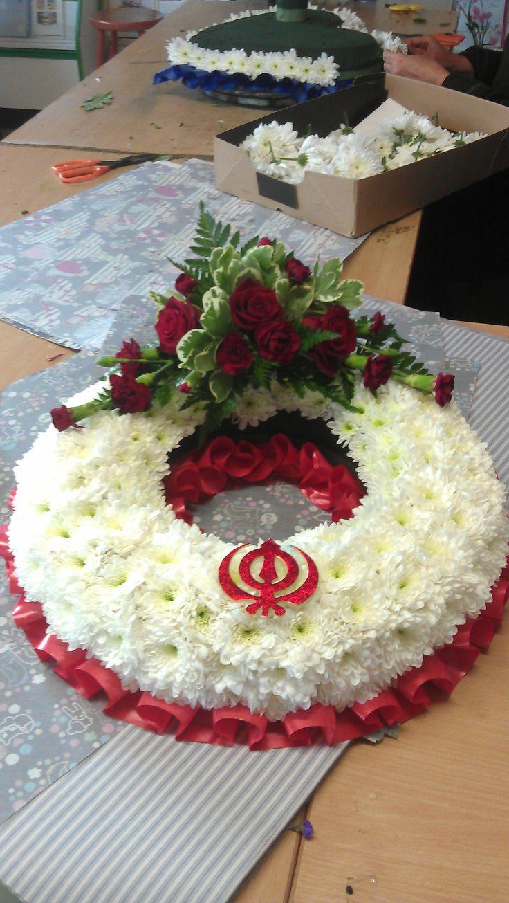 43 best funeral tributes images on pinterest funeral tributes khanda sikh symbol added on funeral tribute izmirmasajfo