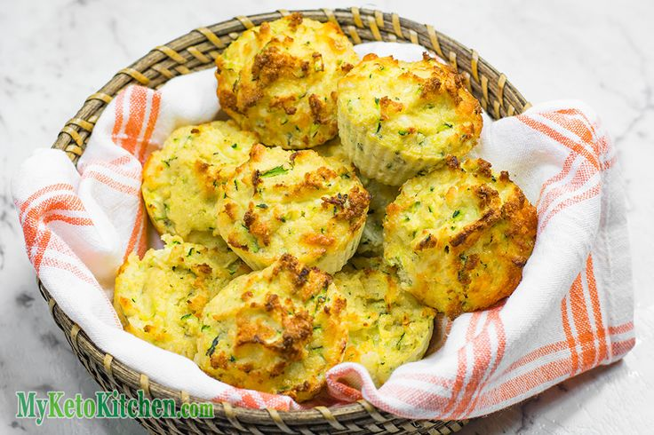 Keto Savory Muffins are a great breakfast that can be made ahead. Our Low Carb Cheddar Cheese & Zucchini Muffins are tasty, moist and cheesy.
