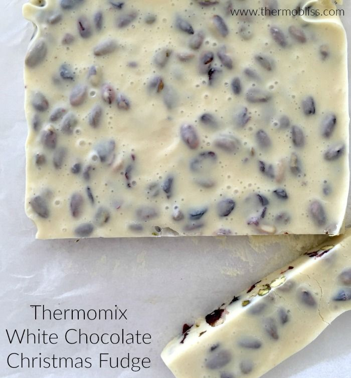 This Thermomix White Chocolate Christmas Fudge combines these two classics along with white chocolate to create a creamy and delicious easy fudge recipe which makes the perfect gift for family and friends.