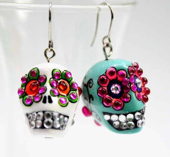 610 best body piercing jewelry images on pinterest for Day of the dead body jewelry