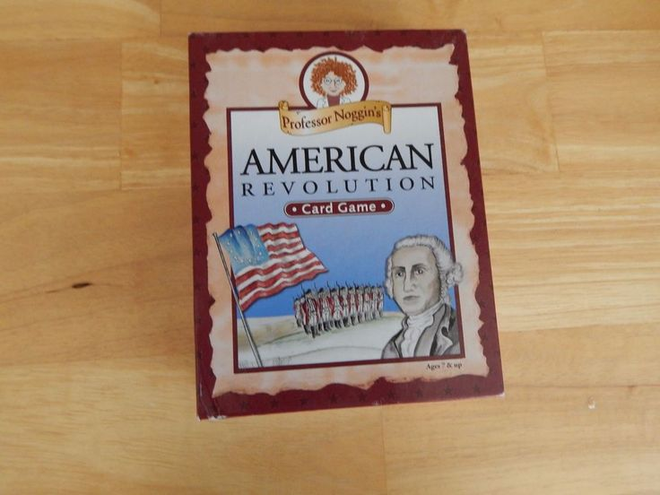 Professor noggin's American Revolution Card Game (2012, Outset, 2-8 Players)