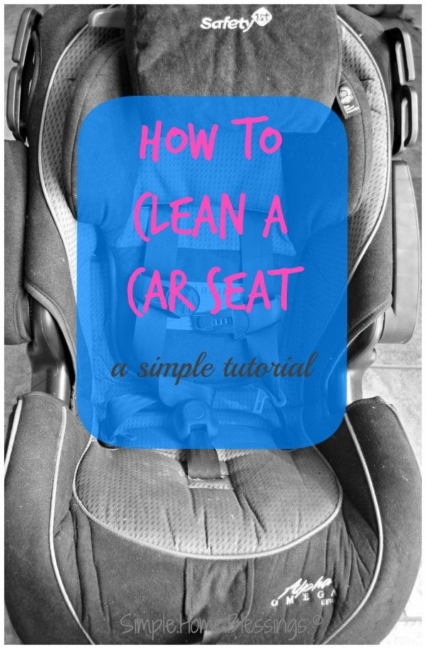 How to Clean a Car Seat a simple tutorial