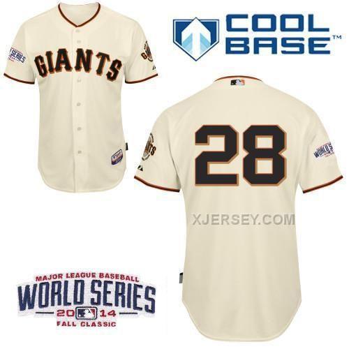 http://www.xjersey.com/giants-28-posey-cream-2014-world-series-cool-base-jerseys.html GIANTS 28 POSEY CREAM 2014 WORLD SERIES COOL BASE JERSEYS Only $34.00 , Free Shipping!