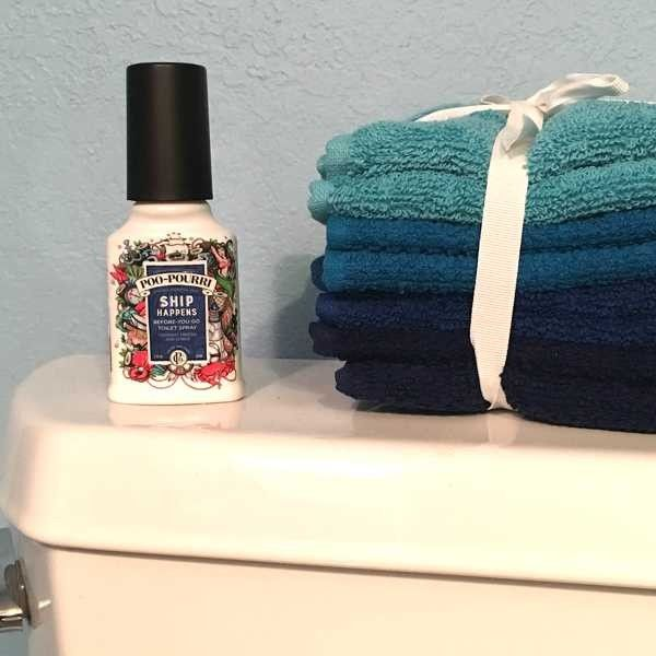 """Keep this """"ship happens"""" Poo-Pourri in your guest bathroom. Everyone will get a kick out of it. https://highcountrygifts.com/ship-happens-poo-pourri-2-oz-size.html"""