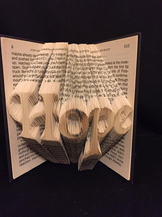 Book folding pattern for Hope +Free tutorial