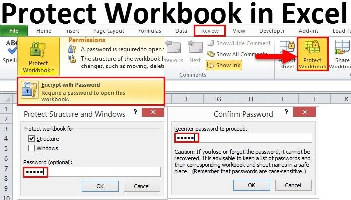 How To Password Protect An Excel File Good Passwords Workbook Excel