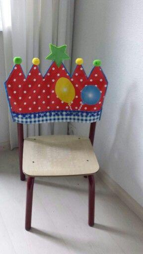 Verjaardagsstoel via @Frida Hemmes FB