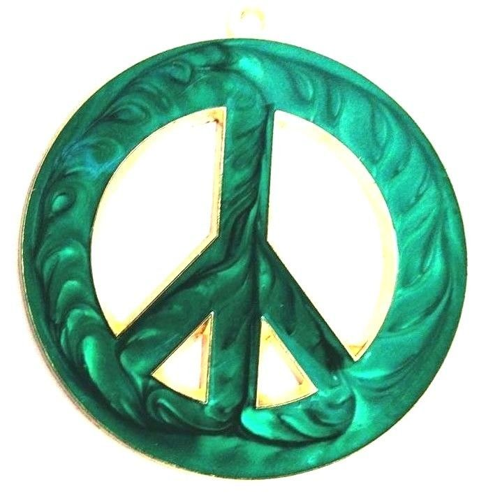 PEACE SYMBOL SUNCATCHER - Peace sign Hand Made Acrylic SUNCATCHER - GREEN