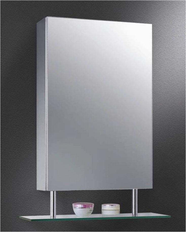 ketcham 1526sh ss polished edge mirror medicine cabinet with glass shelf at bluebath