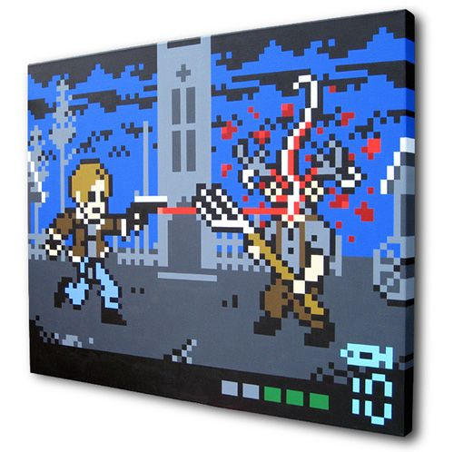 8-bit Resident Evil 4 painting by Arcade Art