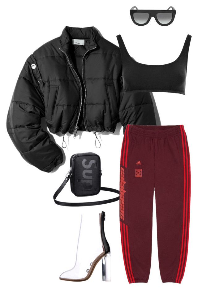 Untitled #676 by milly-oro on Polyvore featuring polyvore, fashion, style, 3.1 Phillip Lim, Yeezy by Kanye West, CÉLINE, Louis Vuitton and clothing
