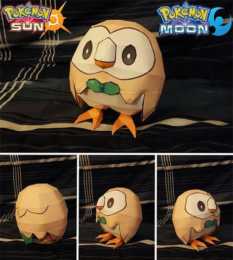 Paperized: Pokemon : Rowlet Papercraft