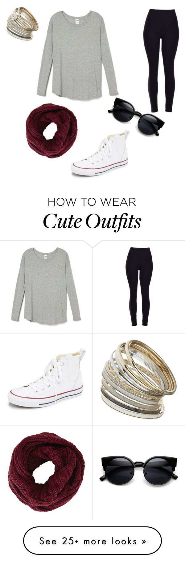 """Cute comfy outfit"" by emilymoore2134 on Polyvore featuring Converse, BCBGMAXAZRIA, Miss Selfridge, women's clothing, women's fashion, women, female, woman, misses and juniors"