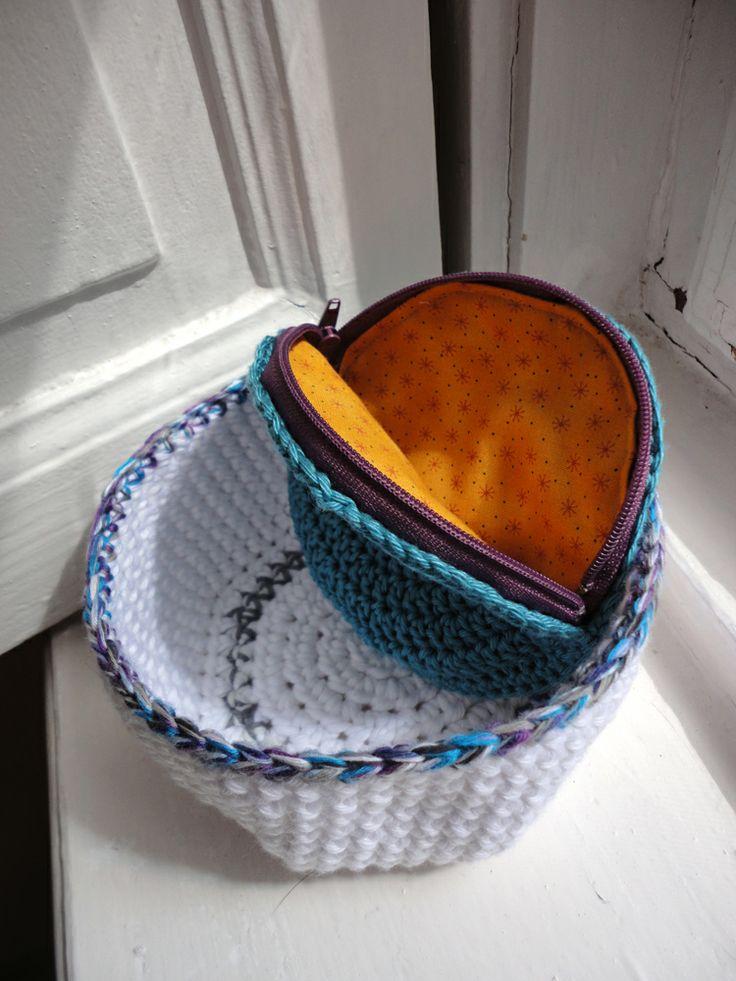scandinavian basket with blue purse
