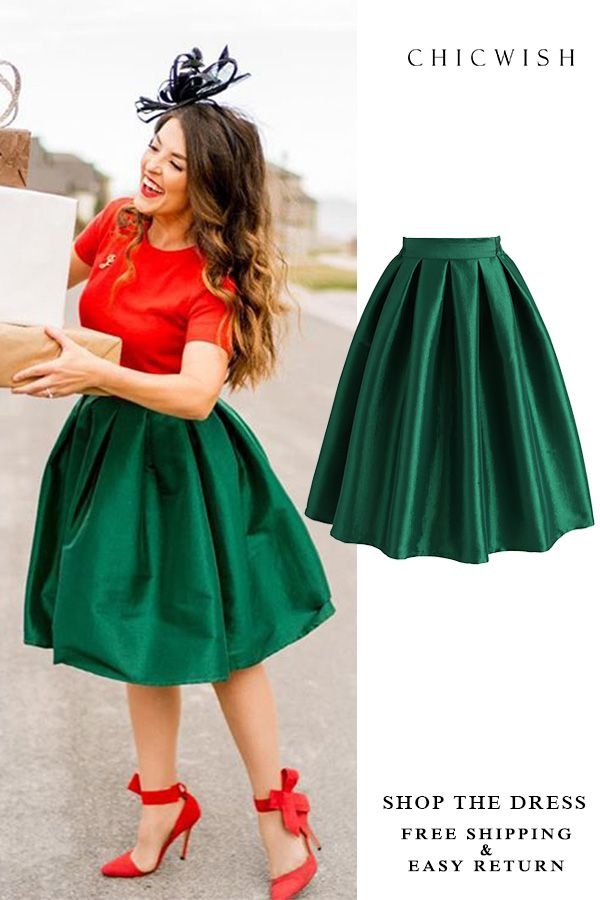 556b8252c Free Shipping & Easy Return. Up to 30% Off. Green A-line Midi Skirt ...
